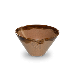 Khmer design bowl taupe