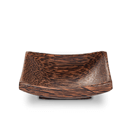 Palm wood dish
